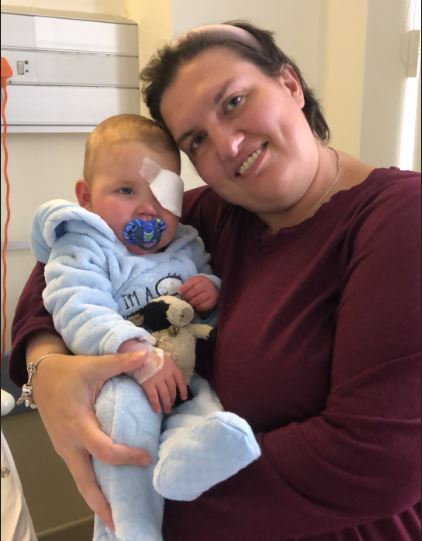 Medical first for SA saves brave baby AJ's sight